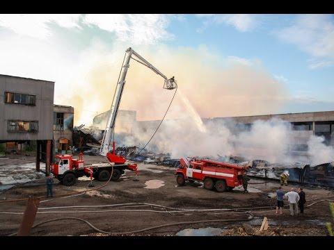 Пожар по 3 номеру на ЛДК в Архангельске