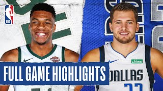 BUCKS at MAVERICKS | FULL GAME HIGHLIGHTS | August 8, 2020