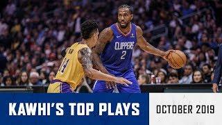 Kawhi Leonard's Top Plays of October | LA Clippers