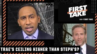 Stephen A. can't believe Max's take on Trae Young and Stephen Curry | First Take