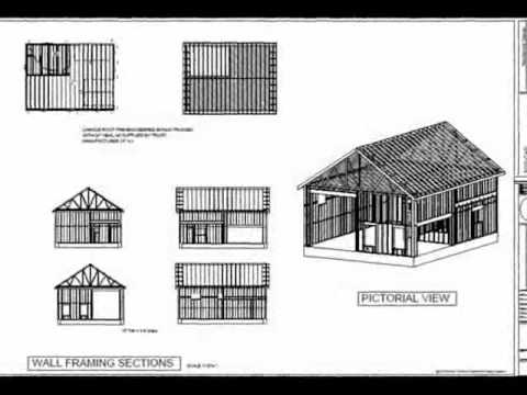 G395 30 X 40 X 14 Garage With Apartment Plan Youtube