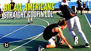 All American Players vs Clueless Randoms at The Beach!! Straight GOOFIN!