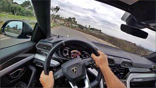 2020 Lamborghini Urus SUV POV Test Drive (3D Audio)(ASMR)