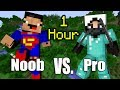 ONE HOUR of NOOB vs. Pro - Minecraft
