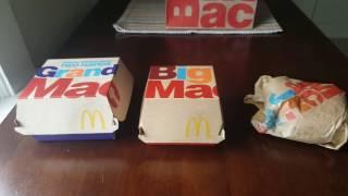 Comparing McDonald's Grand Mac, Big Mac and Mac Jr.