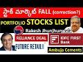 స్టాక్ మార్కెట్ FALL?   IDFC FIRST BANK STOCK, FUTURE RETAIL STOCK, RELIANCE STOCK, PORTFOLIO STOCK
