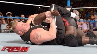 Brock Lesnar dislocates Mark Henry's elbow: Raw, Jan. 6, 2014