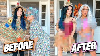 Making Ugly Halloween Costumes HOT Challenge (costume flip)