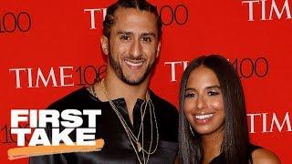 Did Colin Kaepernick's girlfriend's tweet keep Ravens from signing him? | First Take | ESPN