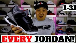 EVERY AIR JORDAN SNEAKER 1-31 EXPLAINED (COMPLETE GUIDE)