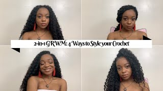 2-in-1 GRWM | 4 Ways to Style your Crochet