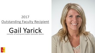'2017 Outstanding Faculty Recipient - Gail Yarick