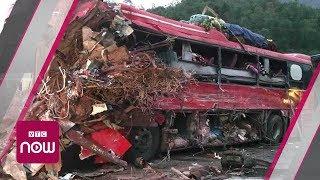 Hiện trường thảm khốc tai nạn xe tải đối đầu xe khách | VTC Now