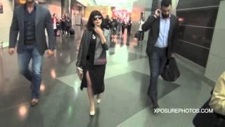 Lady Gaga Struts Her Stuff At JFK!