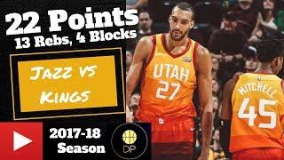 Rudy Gobert vs Kings 3/17/18 | 22 Pts, 13 Rebs, 4 Blocks