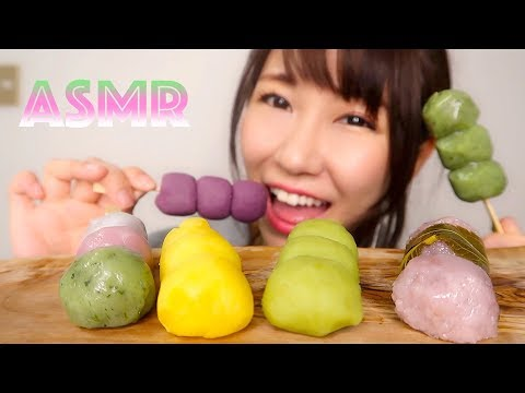 【ASMR】色んなお団子を食べる音