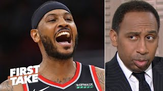 Stephen A. gets realistic about Carmelo Anthony's future in the NBA | First Take