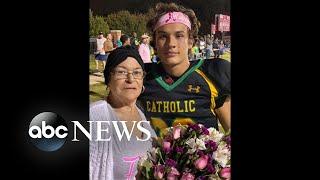 High school football player honors grandmother