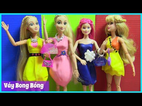 Tự Thiết Kế Váy Cho Búp Bê Công Chúa & Barbie Bằng Bong Bóng Màu Sắc - ĐỒ CHƠI TRẺ EM (chibido.vn)