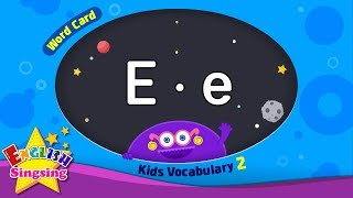 """Kids vocabulary compilation ver.2 - Words Cards starting with E, e - Repeat after """"Ting (sound)"""" - YouTube"""