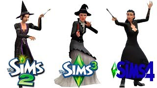 ♦ Sims 2 vs Sims 3 vs Sims 4 : Witch / Spellcaster