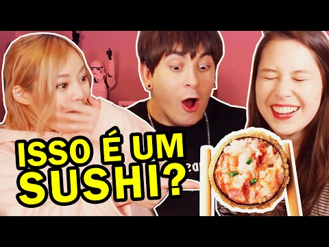 Japonesa reagindo a (fotos de) comida japonesa do Brasil ft ERINA e DAVE