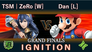 Ignition #80 GRAND FINALS - TSM | ZeRo [W] (Lucina) vs Dan [L] (Mario, Diddy Kong)