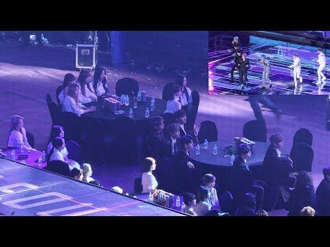 190115 IDOLS Reaction to BTS - FAKE LOVE (방탄소년단 무대보는 트와이스,워너원,아이즈원,여자친구) 4K 직캠 by 비몽