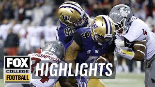 Washington vs Washington State | Highlights | FOX COLLEGE FOOTBALL