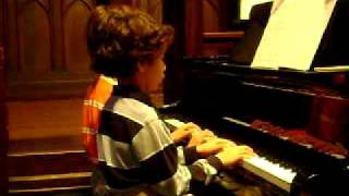 Zachary solo, Zachary and Marco piano duet