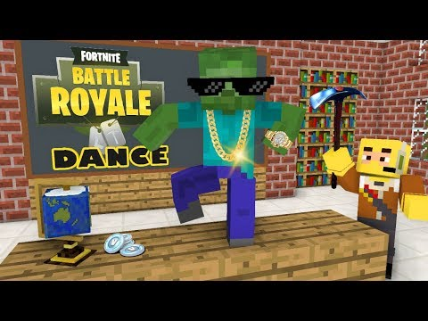 Monster School : Fortnite Battle Royale Dance Challenge - Minecraft Animation