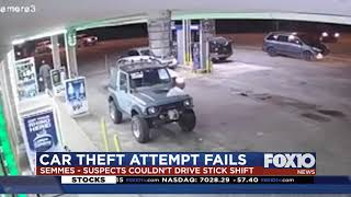 Attempted car theives give up when they can't drive a stick shift