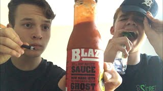 BLINDFOLD DRAWING CHALLENGE W/ BLAZIN HOT SAUCE & SOAP!
