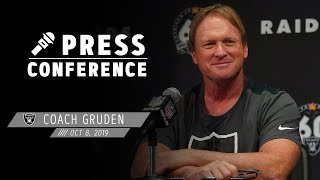 Coach Gruden recaps Week 5 in London and discusses the health of the roster | Raiders