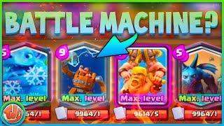 BATTLE MACHINE IN CLASH ROYALE?! - Clash Royale