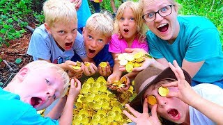 WE FOUND A REAL TREASURE FULL OF GOLD COINS! GHOST HUNT!