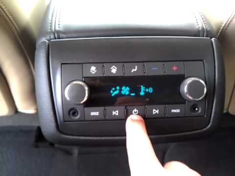 Chevy Traverse   Radio, Rear Seat Controls