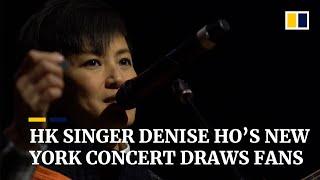 HK singer Denise Ho's concert draws fans in New York