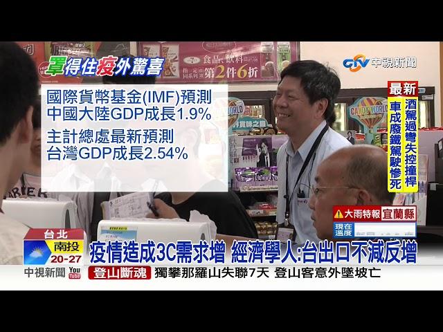 GDP成長可望超越陸? 外媒估台出口連5月開紅盤