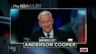 Anderson Cooper on 'RidicuList' for 2nd giggle fit
