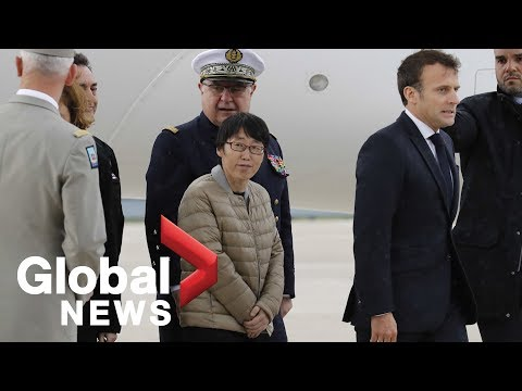 French President Emmanuel Macron welcomes hostages set free in Burkina Faso