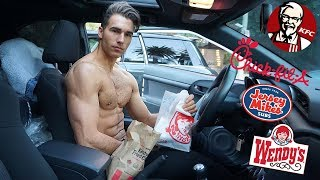 FAST FOOD CHALLENGE | Full Day of Eating on a Cut (3100 Calories)