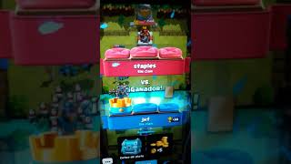 Playing The clash Royale game
