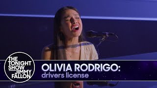 Olivia Rodrigo: drivers license (TV Debut) | The Tonight Show Starring Jimmy Fallon