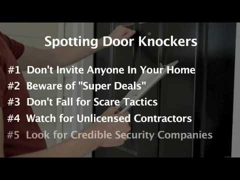 Home Security Tip: How to deal with door to door sales people