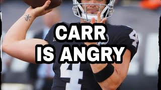 LAS VEGAS RAIDERS!!! CARR IS MAD!!! PJ BACK TO VEGAS!!! OLSEN SPEAKS!!!