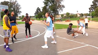Me & Professor Pulled Up On Hood Basketball Trash Talkers & BROKE ANKLES!