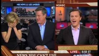 Morning Joe Gang Crack Up Over LaTourette's Sucking Sound (HQ)