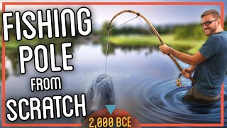 How to Make a Fishing Rod from Scratch  (I ACTUALLY Caught a Fish!)