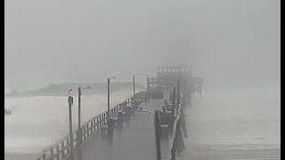 LIVE BEACH CAMS - Big waves approaching NC coast - Pier taking on waves  *CAMS ONLY*